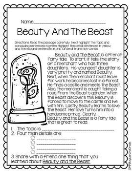 The Literature-Writing Connection Beauty And The Beast-CKLA