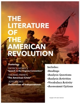 The Literature of the American Revolution