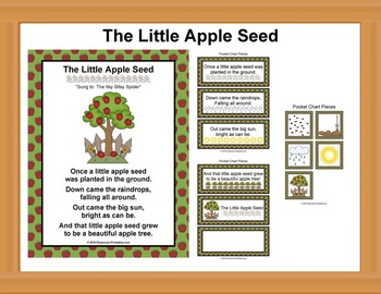 The Little Apple Seed Poem / Pocket Chart