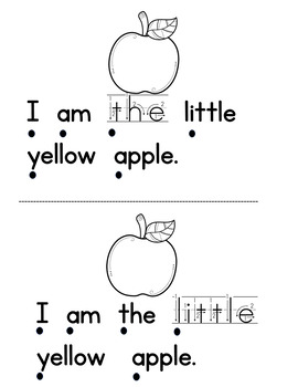 "The Little Apples   Emergent Reader ""I am the little"" and color words"