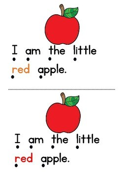 """The Little Apples   Emergent Reader """"I am the little"""" and color words"""