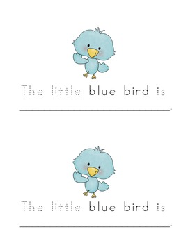 "The Little Blue Bird (Emergent Reader Book for ""Little"" ""The"" ""Is"")"