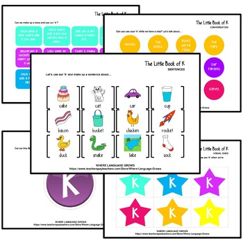 The Little Book of K | A Complete Resource For /k/ Articulation Therapy