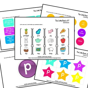 The Little Book of P | A Complete Resource For /p/ Articulation Therapy