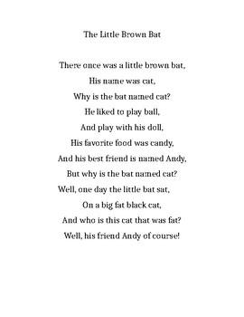 The Little Brown Bat Poem