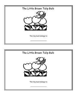 The Little Brown Tulip Bulb {Extension Activity} Mini Colouring Book