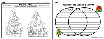 """""""The Little Christmas Tree"""" Literacy Companion/Activity Pack - sequencing, vocab"""