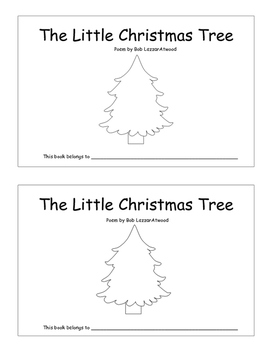 The Little Christmas Tree Poem and Coloring Book Christmas Poem
