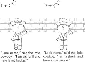 The Little Cowboy Emergent Reader