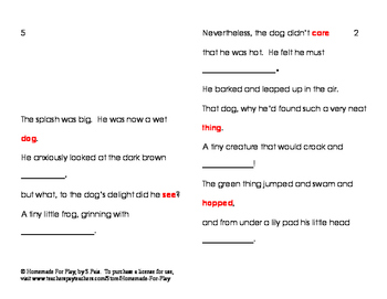 The Little Dog's Friend Poem/Rhyming Activity