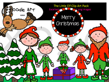 The Tiny Elf Clipart Pack