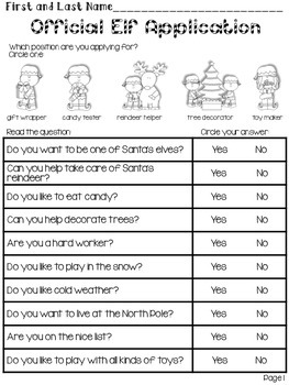 The Little Elf - Reading and Language Activities