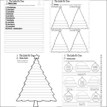 The Little Fir Tree : Christmas Reading Comprehension Book Study Activity Packet