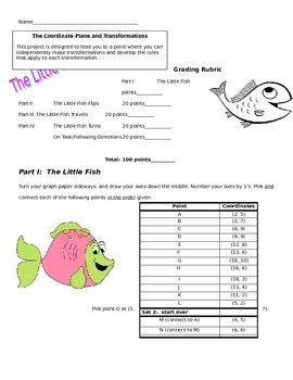 The Little Fish Transformations Project - Translations Reflections Rotations