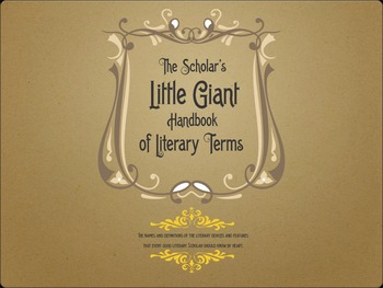 The Little Giant Book of Literary Terms - PDF/Cards