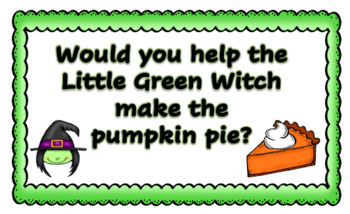 The Little Green Witch Literacy Pack