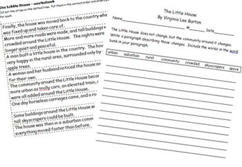 The Little House Flip Book and Summary Sheet
