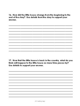 The Little House Reading Comprehension Assessment