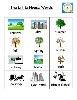 The Little House Vocabulary Word List