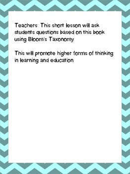 The Little House by: Virginia Lee Burton Lesson Plan using Bloom's Taxonomy