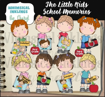 The Little Kids School Memories Clipart Collection By Whimsical Inklings