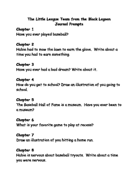 The Little League Team from the Black Lagoon comprehension questions