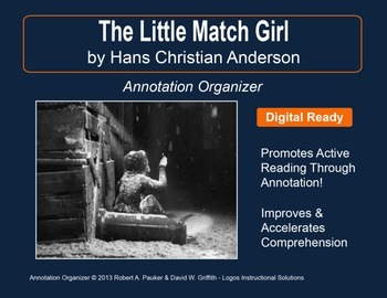 """Little Match Girl"" by Hans Christian Andersen: Annotation Organizer"