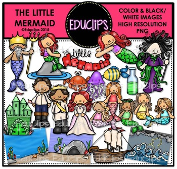 The Little Mermaid Clip Art Bundle {Educlips Clipart}