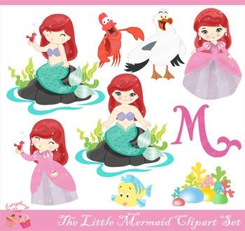 The Little Mermaid Clipart Set