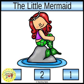 The Little Mermaid Fairy Tales Count and Clip Task Cards