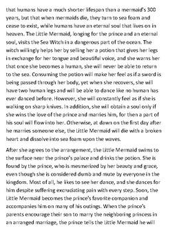 The Little Mermaid Handout