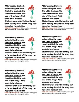The Little Mermaid Literacy Packet
