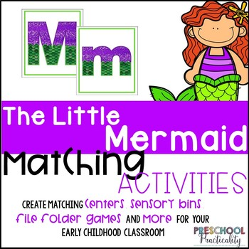 The Little Mermaid Matching Activities for Toddlers, Preschool, and PreK