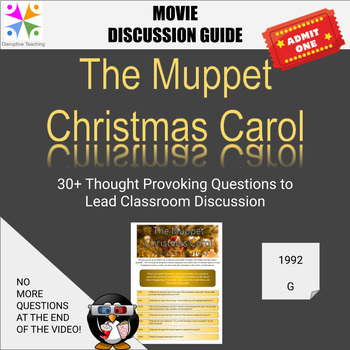 The Muppet Christmas Carol Movie Discussion Guide- Perfect for Christmas!
