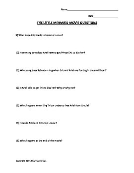 The Little Mermaid Movie Questions