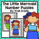 The Little Mermaid (Fairy Tale) Skip Counting Number Puzzles