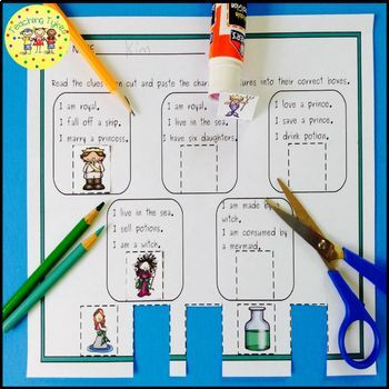 The Little Mermaid Fairy Tales Worksheets Activities Games Printables and More