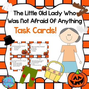 Little Old Lady Who Was Not Afraid of Anything Task Cards (FREEBIE)