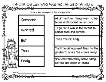 The Little Old Lady Who Was Not Afraid of Anything! Bundle of Literacy
