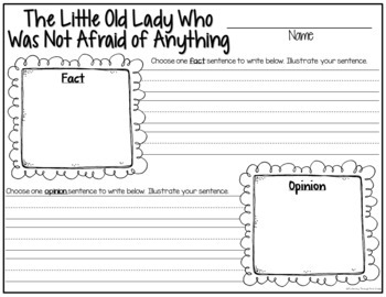 Sub Plans and Book Companion Activities ~ The Little Old Lady Who Was Not Afraid