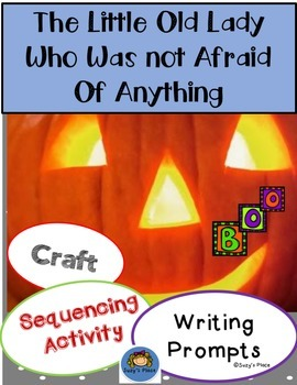 The Little Old Lady Who Was Not Afraid of Anything Craft, Sequencing and Writing