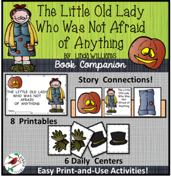The Little Old Lady Who Was Not Afraid of Anything-Emergent Literacy Centers