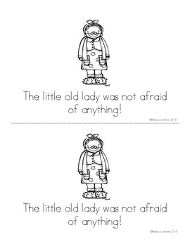 The Little Old Lady Who Was Not Afraid of Anything {Emergent Reader & Puppets}