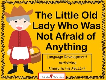 The Little Old Lady Who Was Not Afraid of Anything Language Activities