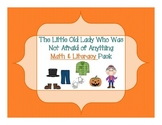 The Little Old Lady Who Was Not Afraid of Anything Math and Literacy Pack