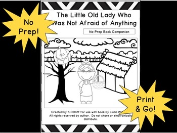 The Little Old Lady Who Was Not Afraid of Anything: No Prep Book Companion