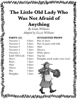 The Little Old Lady Who Was Not Afraid of Anything Reader's Theater