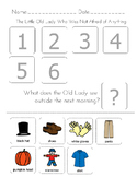 The Little Old Lady Who Was Not Afraid of Anything-Sequence & Matching Worksheet