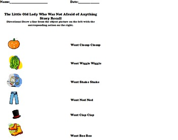 """The Little Old Lady Who Was Not Afraid of Anything"" Worksheets"
