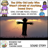 Little Old Lady Who Wasn't Afraid of Anything Story Pieces